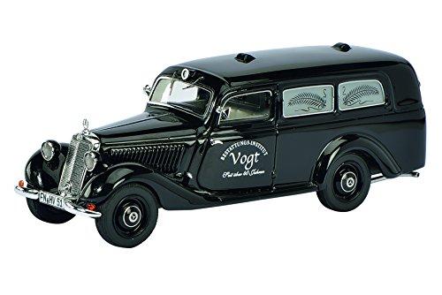 Preisvergleich Produktbild Schuco 450881300 - Mercedes Benz 170V Bestattungswagen, Resin, Mastab 1:43, schwarz