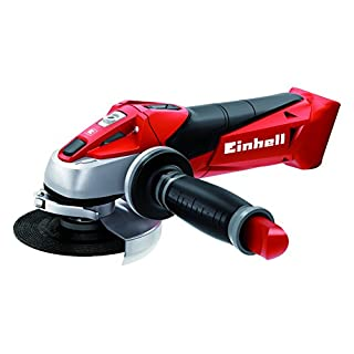 Einhell TE-AG 18 Li Solo Power X-Change 18 V Lithium 115 mm Cordless Angle Grinder - Black/Red/Stainless Steel