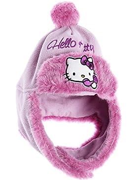 Colbacco Pile Bambino Ragazza Hello Kitty ROSA E VIOLA di 3a 9anni