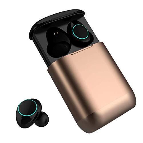 Bluetooth Kopfhörer Kingsky Mini Wireless Earbuds Bluetooth V5.0 True Kabellos Kopfhörer mit Noise Cancelling Bluetooth Ohrhörer wasserfest Bluetooth Headset Stereo mit Mikrofon (Gold)