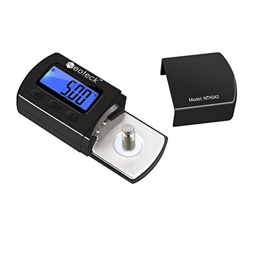 Neoteck Mini Balance Numérique Adaptateur Aiguille Platine Vinyle Précision 0.01g Adaptateur Trace Aiguille de Phonographe Disque Microsillon avec Ecran LCD Rétroéclairé Bleu pour Platine Vinyle