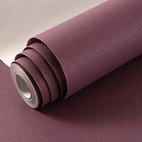 Wapel Plaine Simple Non-Tissé De Soie Tissu Fond Papier Peint Chambre Salon Magasin De Vêtements Salon De Papier De Couleur Pourpre Démon