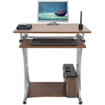 Mari Home - Deveron Noce Scrivania per ufficio computer Scaffale Ripiani computer desk Tavolo per (Ufficio Noce Scrivania)