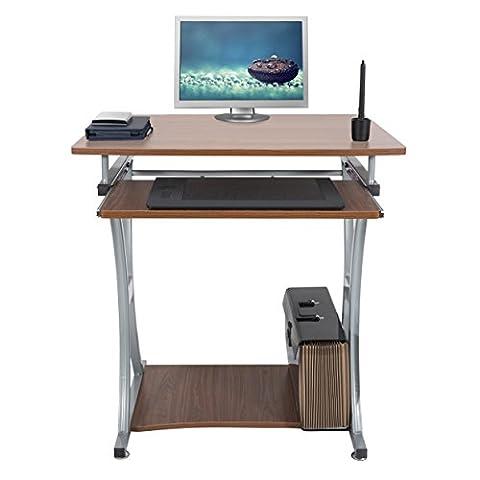 Mari Home - Deveron Nussbaum Computerschreibtisch Computertisch Schreibtisch Bürotisch Computertisch Arbeitstisch Freizeittisch PC (Ufficio Noce Scrivania)
