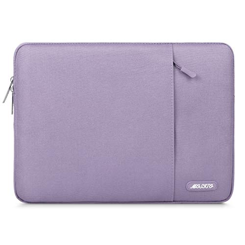 MOSISO Laptophülle Kompatibel 13-13,3 Zoll MacBook Air, MacBook Pro, Notebook Computer, Polyester Wasserabweisend Vertikale Stil Sleeve Hülle Schutzhülle Laptoptasche Notebooktasche, Helles Lila