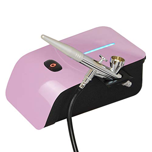 Profi AirBrush Set Carry IV-TC Pink - Airbrush Kompressor mit Sensor-Touch-Control-Technologie/AIRBRUSHPISTOLE SINGLE ACTION 208D mit 0,4mm Nadel/Düse