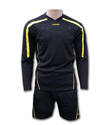 Ichnos divisa Arbitro Calcio Calcetto (maglia + pantaloncini) taglia adulto (Arbitro Shorts)