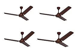 Omen 48 Inch Elegant Ceiling Fan Brown Set of 4