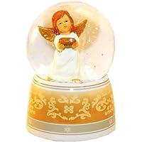 20038 Bola de nieve navidad ángel con musica medida 140 mm