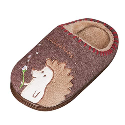 WEXCV Schuhe Kinder Unisex Baby Jungen Mädchen Cartoon Igel Verdicken Plüsch Winter Warme Kleinkind Schuhe Anti-Rutsch Babyschuhe Baumwollschuhe Indoor Hausschuhe