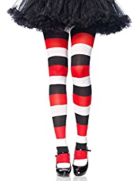 dd989d1cdc5 Leg Avenue 7948 One Size 6 to 12 Multicolor Darling Doll Opaque Striped  Tights with Woven Stripes and Elastic…