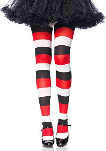 LEG AVENUE 7948 - Darling Doll striped pantyhose, Einheitsgröße (Mehrfarbig)