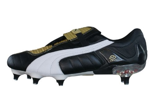 Puma V Konstrukt III SG Mens Leather Football Boots - Cleats-Black Gold-8