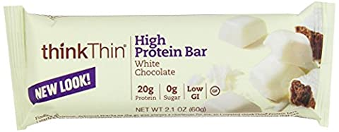 Think Thin! High Protein Meal Alternative Nutrition Bar, White Chocolate Chip, 2.1 Ounce Bar by Think Products