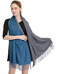 Longwu Cachemire Wrap Stole pour les femmes hiver très grands hommes Echarpe  Pashmina en laine d 103023382fa