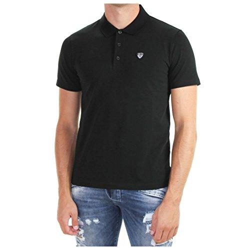EA Herren Poloshirt, einfarbig Schwarz