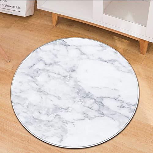 Scrolor Art- und Weisemarmormuster-runder Flanell-Badezimmer-Küchen-Teppich-Verschiedene Arten Rutschfeste Wasserabsorption Elegante Teppichunterleger