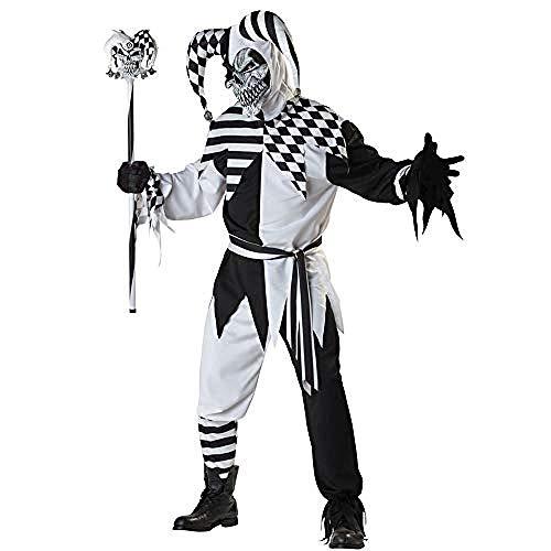 Göttin Kostüm Männliche - kostüm Onesie.Halloween Kostüm Erwachsener Mann/Frau Schwarzweiß Clown Cosplay Kostüm Clown Stage Performance Performance Kostüm Mann@Männlich