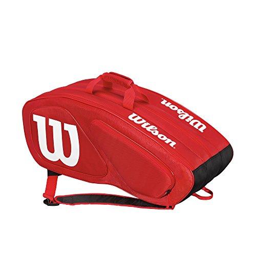 Wilson Damen/Herren-Tennistasche, Für Profis, Team II 12PK, Einheitsgröße, rot, WRZ857612