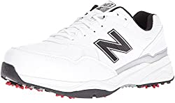 New Balance Mens NBG1701 Golf Shoe, White/Black, 9 D US