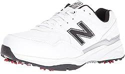 New Balance Mens NBG1701 Golf Shoe, White/Black, 14 D US