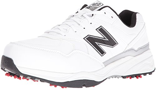 Scarpe da golf NBG1701 da uomo, bianche / nere, 11 4E US