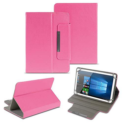NAUC Universal Tasche Schutz Hülle 10-10.1 Zoll Tablet Schutzhülle Tab Case Cover Bag, Farben:Pink, Tablet Modell für:Kiano Slim Tab 10.1