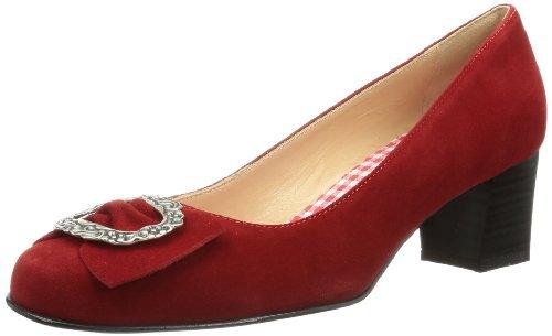 Diavolezza Celine, Chaussures à Talons-avant du Pieds Couvert Femme Rouge - Rouge