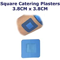 50Stück qualicare Premium Ultra Dünn Blau Catering First Aid Wunde Schnitt quadratisch Pflaster Dressings 3,8cm... preisvergleich bei billige-tabletten.eu