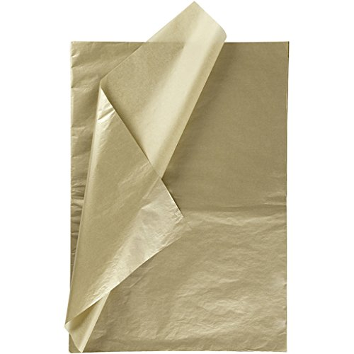 Seidenpapier, Blatt 50x70 cm, 14 g, gold, 25Blatt
