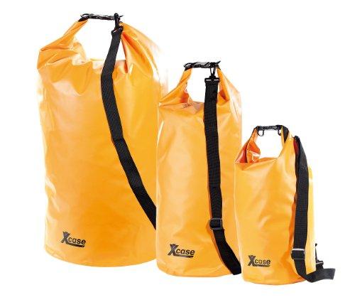 Xcase wasserdichte Taschen: Urlauber-Set wasserdichte Packsäcke 16/25/70 Liter, orange (Packsäcke aus LKW-Plane)