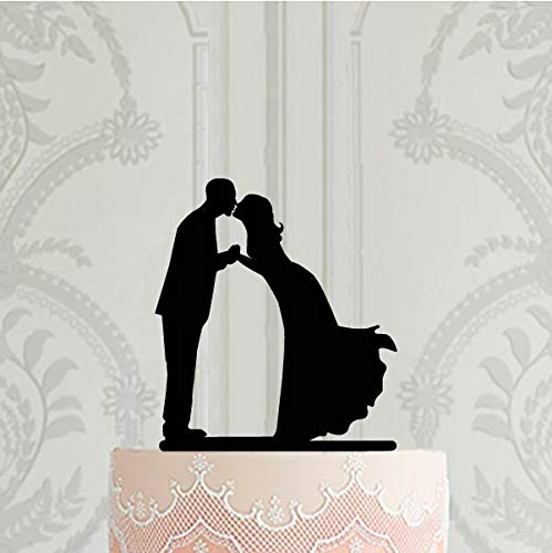Tobti6ob Silhouette Hochzeitstorte Topper Braut und Br?utigam Kuchen Dekoration Bridal Shower Ideen Hochzeit Dekor (Dekoration Ideen Bridal Shower)