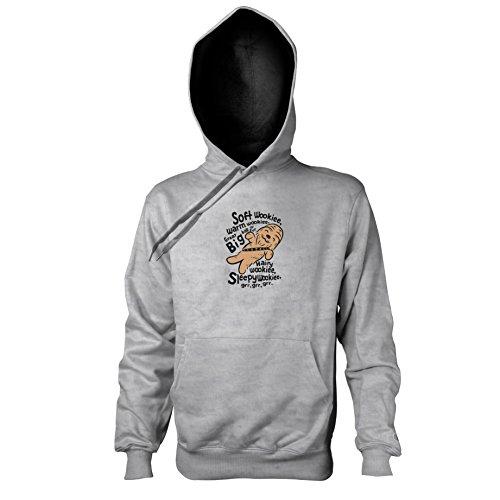 Texlab - Soft Wookiee - Herren Kapuzenpullover, Größe L, Graumeliert