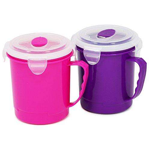 COM-FOUR® Taza sopa 2x llevar - Platos microondas