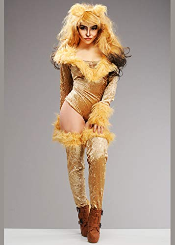 Magic Box Int. Frauen Deluxe Cute Lion Kostüm Medium (UK 10-12) (Lion Kostüm Frauen)