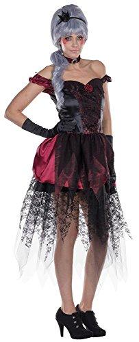Rubies Dark Princess mit Krönchen Haarreif, Größe 40, Prinzessinnen Kleid mit Halsband und Glitzer Krönchen Haarreif, Erwachsenen Kostüm, (Rubies Glitzer Kostüme)