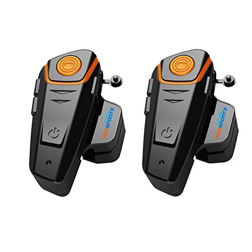 Motorrad Helm Intercom, BT-S2 1000m Bluetooth Headset Wasserdichtes, Interphone Headset Für2 Oder 3 Fahrer Und 2.5 Mm Audio Für Walkie Talkie GPS Hands Free MP3 Player FM Radio 2.5 Mm Mp3 Stereo