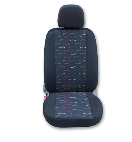 DS Sitzbezüge Auto universale coprisedili per-Set (Sedile del conducente, sedile passeggero) (Roma Antracite/Rosso)
