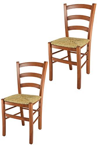 Sedia impagliata cucina in ciliegio | Grandi Sconti | sedie impagliate