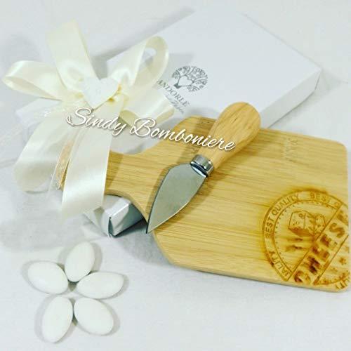 Bomboniera boda Aniversario Novios Tabla madera quesos