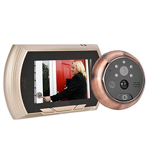4.3in Mirilla puerta inteligente, WiFi Cámara de timbre de video IR visión nocturna, Detección de movimiento, Sistema de seguridad de la casa