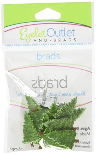 Eyelet Outlet Shape Brads 12/Pkg-Pine Tree