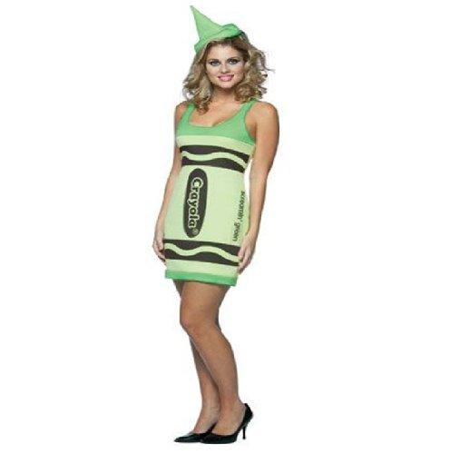 Damen Crayola Buntstifte Marker Filzstift Hut Lust Tank Kleid Kostüm ()