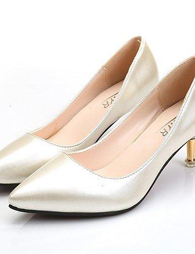 GS~LY Damen-High Heels-Lässig-PU-Stöckelabsatz-Absätze-Schwarz / Rot / Weiß / Silber / Burgund black-us7.5 / eu38 / uk5.5 / cn38