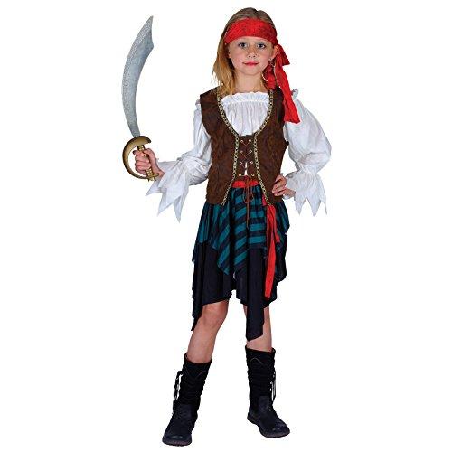 Karibik-Piraten-Mädchen Kostüm - Klein 3/4 Jahre (Mädchen Piraten Ideen Kleines Kostüme)