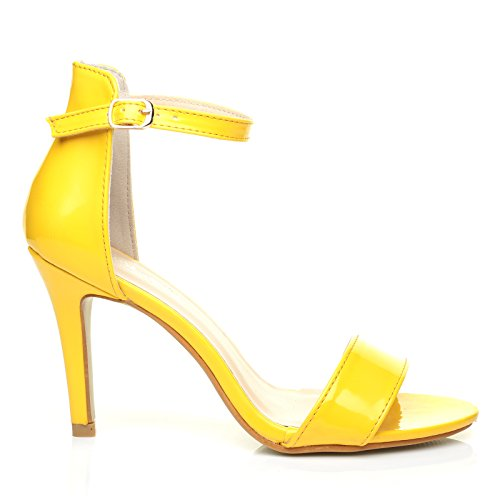 pam-yellow-patent-ankle-strap-barely-there-high-heel-sandals-size-uk-8-eu-41