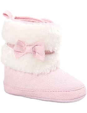 Schneestiefel , Kobay Baby Bowknot Warm weich halten Sole Snow Boots Weiche Krippe Schuhe Kleinkind Stiefel