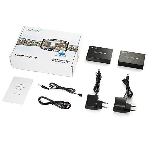 Yao HDMI Extender Bi-Directional IR 3D HDMI Loop Out with Dual IR Control -