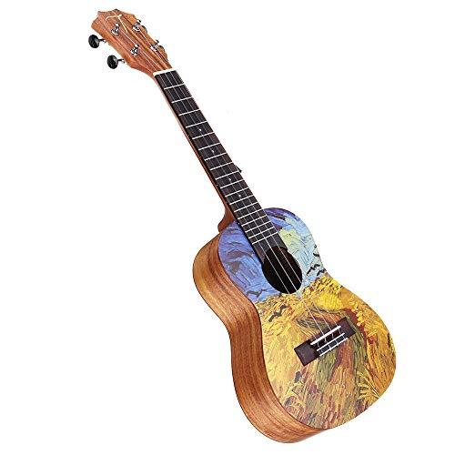 CuteLife Ukulele da Concerto 23 Pollici di Legno di Acacia Ukulele con Gig Bag Principianti Chitarra Pacchetto con Tuner & String Ordinary (Colore : As Shown, Dimensione : 23 inch)
