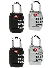 DOCOSS 331-TSA Number Combination Luggage Lock - Pack of 4